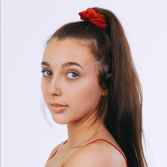 Highkey Accessories Red Scrunchie By Emma Chamberlain